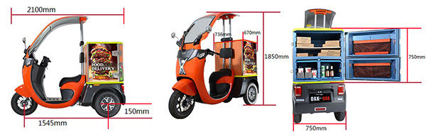 3 Wheel Electric Cargo Scooter
